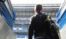 Ryan Stewart walking out of tunnel at Bernabeu.JPG